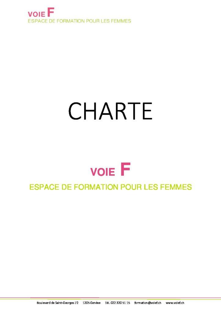 Charte Voie F